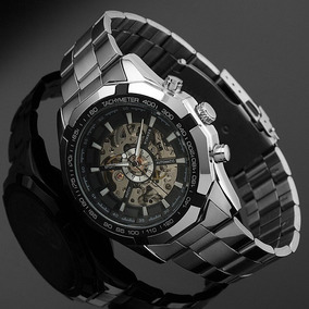 Relógio Automático De Luxo Winner Skeleton Tm-340b