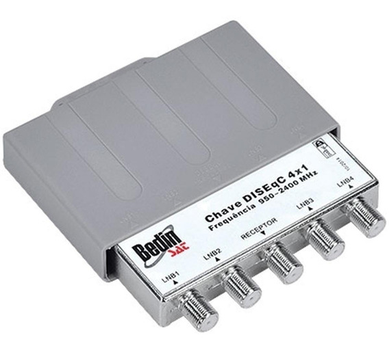 Chave Diseqc 4x1 Para Comutação 2.0 Bedin Sat