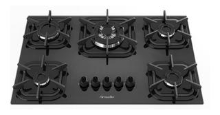 Fogão cooktop a gás Mueller 5 Bocas preto 127V/220V