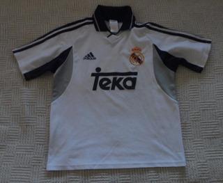 Camiseta De Real Madrid De 2000 Marca adidas, Talle 14