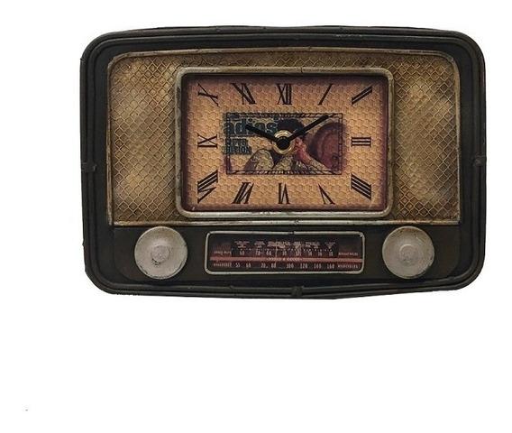 Enfeire Decorativo Relógio Personalizado Metal Marron 15x23