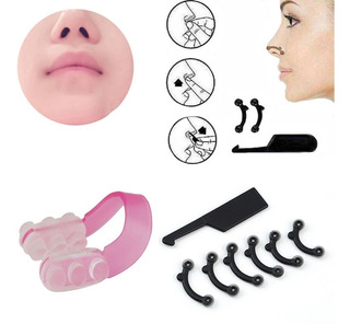 Corrector Nasal Respingador Nariz 6 Uds 3 Tallas + Clip