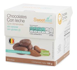 Chocolate Bolitas Leche Y Almendras Sweetwell Sin Azúcar