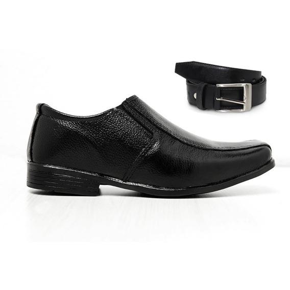 Kit Infantil Sapato Com Cinto Em Couro Lançamento