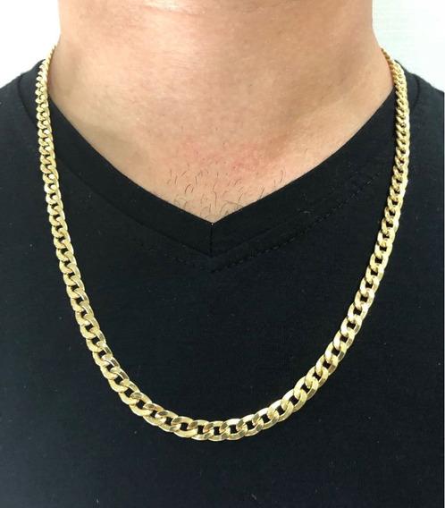 Corrente Cordão Grumet Grosso 60cm Masculino Ouro 18k