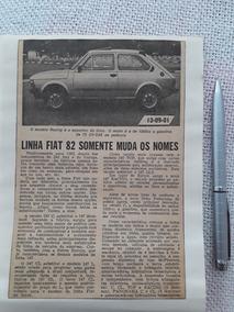 Propaganda Antig Matéria Fiat 147 Gls C Racing Eldorado 1982
