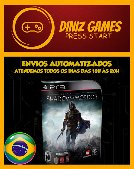 Middle-earth Shadow Of Mordor Ps3 Game Digital Pt Br