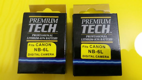 Conjunto De 2 Baterias Nb-6l P/ Câmera Canon + Carregador