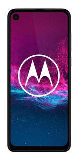 Celular Libre Motorola One Action 6,3 Azul Petróleo