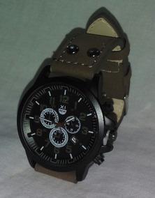 Relógio Vintage Clássico, Pulseira Em Couro