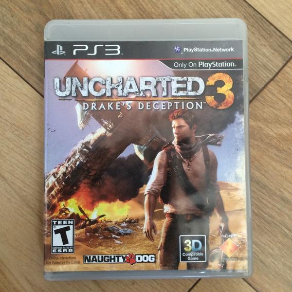 Ps3: Uncharted 3 - Drakes Deception - Mídia Física