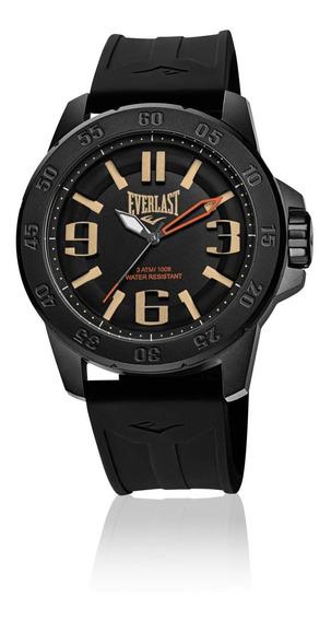 Relógio Masculino Everlast Esporte E697 47mm Silicone Preto