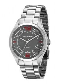 Relógio Mondaine Masculino 78742g0mvna1 Pulseira Prata *