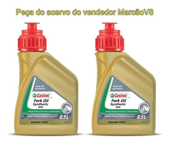 2 Óleo Castrol Fork Oil Synthetic 10w Suspensão Motos