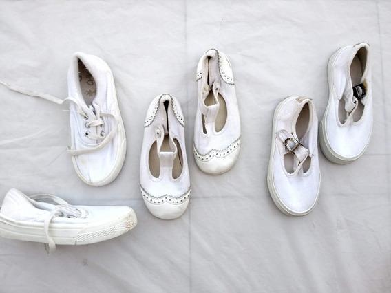 3 Pares Zapatillas Blancas Cheeky Zapatos Nena Nene 25 26 27