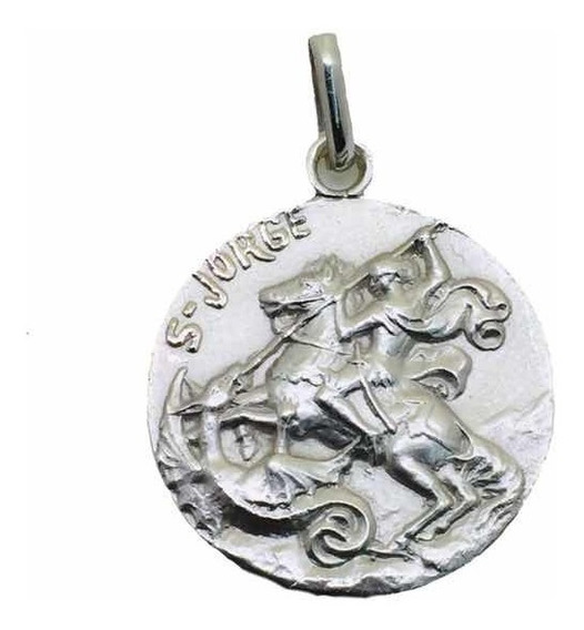 Medalla Plata 925 San Jorge Bautizó Comunión