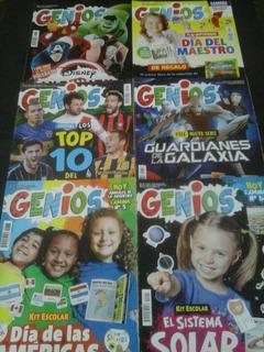 Lote De Revistas Genios X 6 Ejs