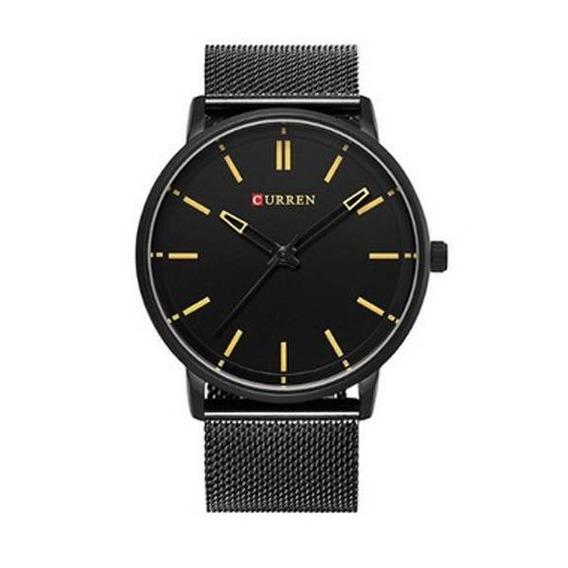 Relógio Masculino Curren Analógico 8233 Preto E Marrom Men
