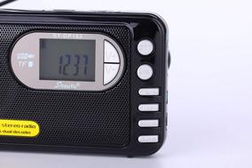 Rádio Receptor Shouyu Dp-182 Mp3 Player Am/fm/sw Preto Dsp