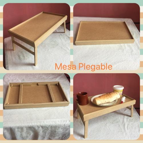 Mesa Plegable Para Comer En Cama  Mdf  9mm Y 3mm