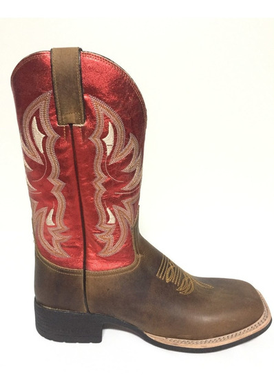 Bota Brazil Country 3628 X3 Crazy Horse Areia/steel Red