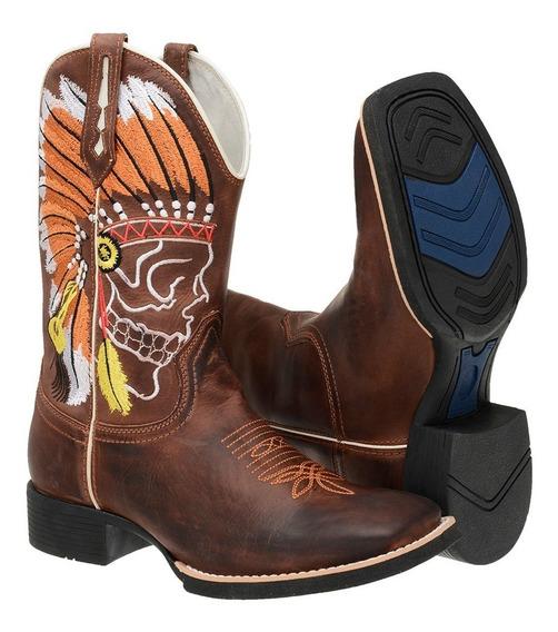 Oferta Bota Country Masculina Texana Rodeio Barato Hs