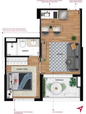 Apartamento 1 Dormitório Suíte A 350 Metros Do Metrô Conceição Pronto Em Maio De 2022! - Ap12241