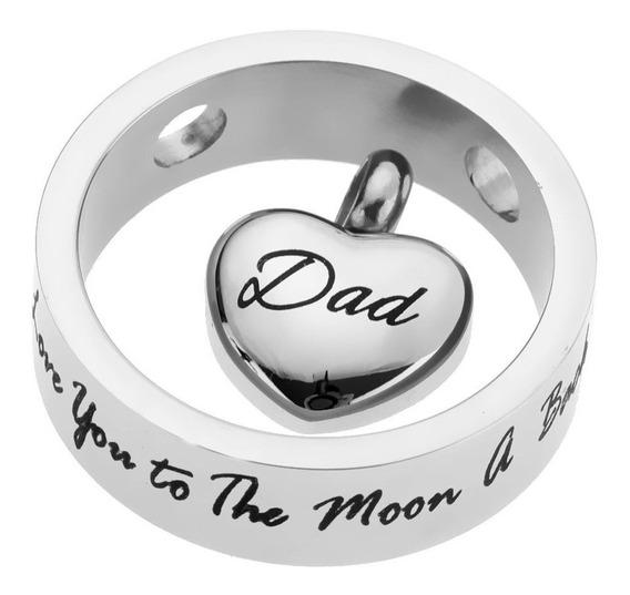 R58 Relicario Papa Dad Ring Cenizas Urna Cremacion