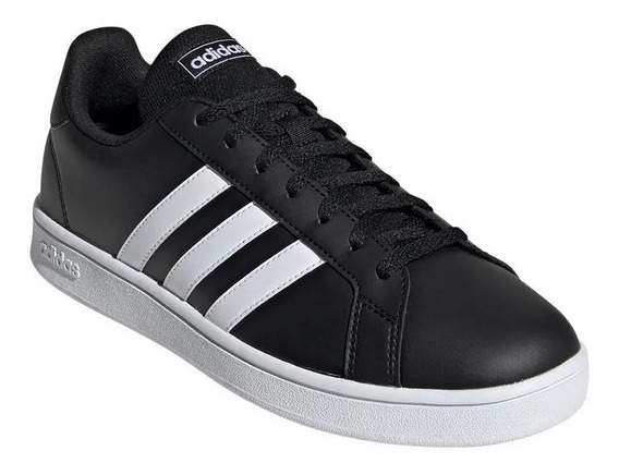 Zapatillas adidas Grand Court Base Hombre Casual Negra