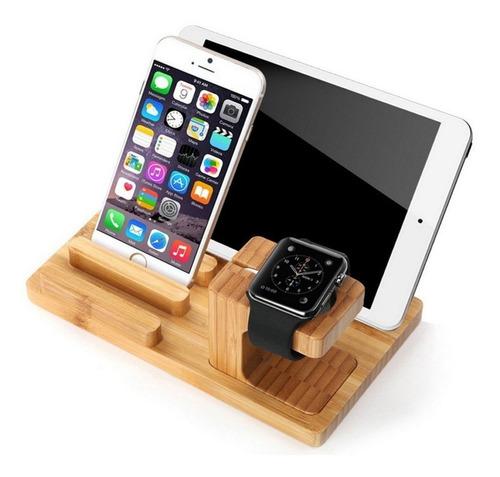 Soporte De Carga Para Reloj Apple Series 2/1, En Bambú C,