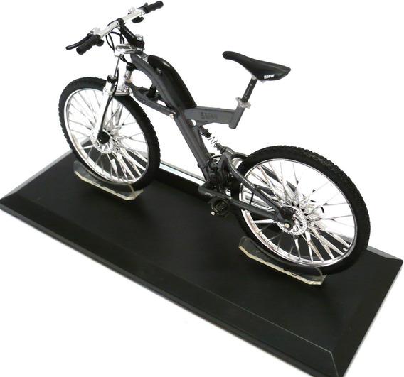 Miniatura Bike Bicicleta Bmw Q6.s Xtr Cinza Coleção 1:10