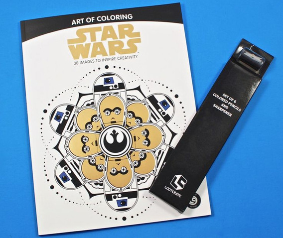 Livro De Colorir Star Wars Com Kit Lapis Exclusivo Lootcrate