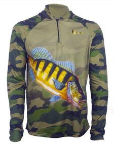02 Camisa De Pesca Fps Uv 50+ Com Nome E Tube De Brinde
