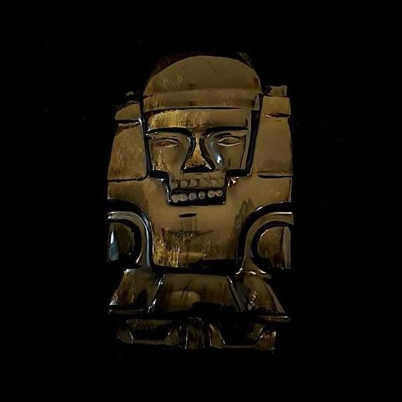 Totem Mexicano Da Pedra Vulcânica Obsidiana