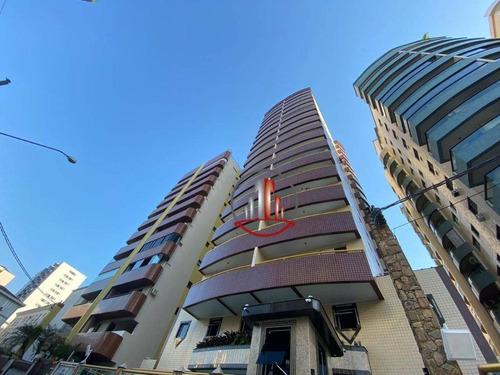 Apartamento Com 1 Dormitório À Venda, 57 M² Por R$ 215.000,00 - Vila Guilhermina - Praia Grande/sp - Ap1848