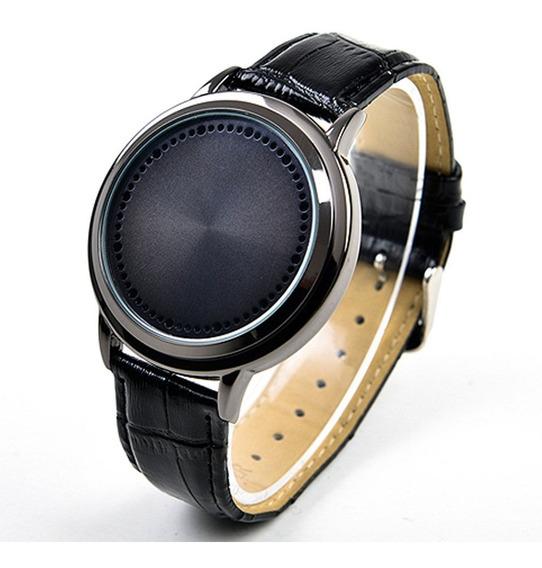 Relógio Led Luz Azul Unisex Fashion Touch Screen