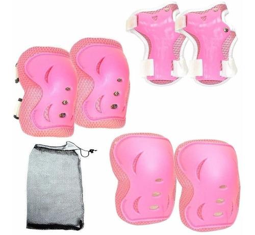 Set De Protecciones X6 +bolso P/ Patin Roller Skate - El Rey