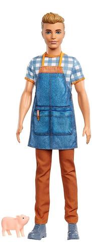 Barbie Gjb62 Sweet Orchard Farm Ken - Muñeca, Multicolor