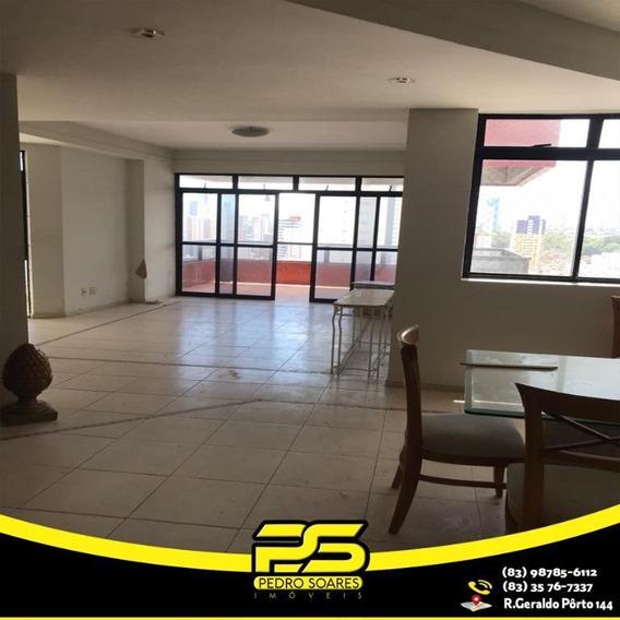 Cobertura Com 5 Dormitórios Para Alugar, 480 M² Por R$ 5.500/mês - Bessa - João Pessoa/pb - Co0044