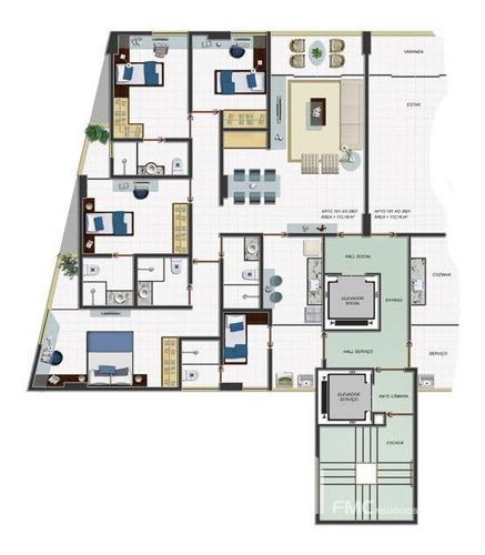 Imagem 1 de 13 de Apartamento Padrão Com 4 Quartos No Edf. Ava Gardner - Vd1498-v