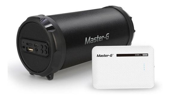 Parlante Portátil Micro Bluetooth Master G + Power Bank Rega