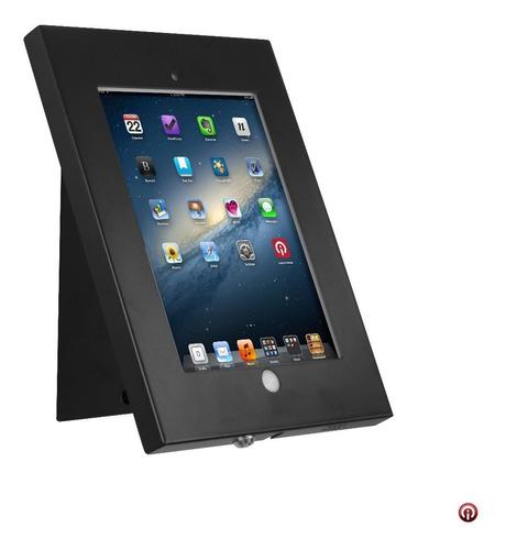 Imagen 1 de 5 de Caja Base Pared Soporte Seguridad Antirrobo iPad 2017 Acero