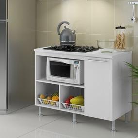 Balcão Multiuso Movel Cozinha P/ Fogão Cooktop 5 Ou 4 Bocas