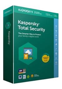 Kaspersky Total Security 10 Equipos 1 Año 2018 2019