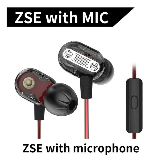 Kz Zse 3.5mm Dynamic Dual Driver Earphone In Ear Headset