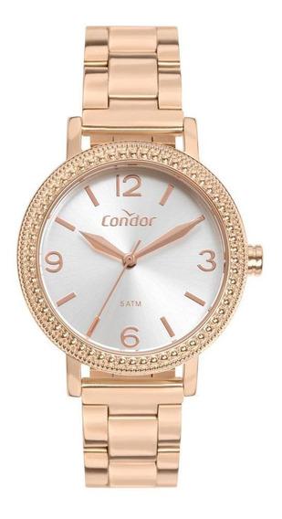 Relógio Feminino Condor Co2035mun/4j 32mm Aço Rosé