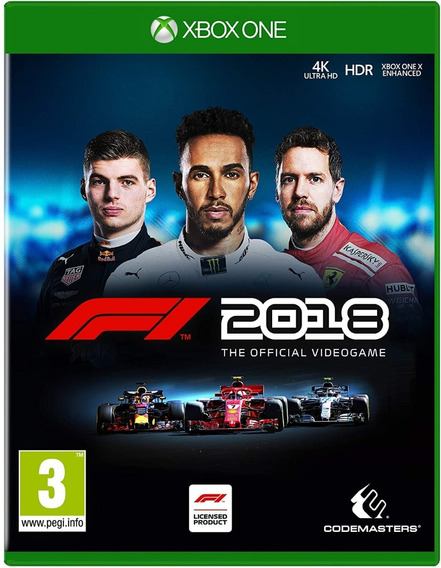 F1 18 Formula 1 2018 - Xbox One - Novo Midia Fisica Lacrado