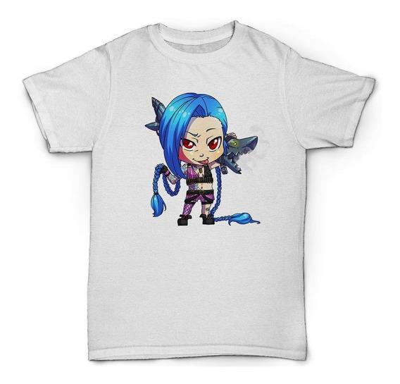 Camiseta Jinx Lol League Of Legends Chibi
