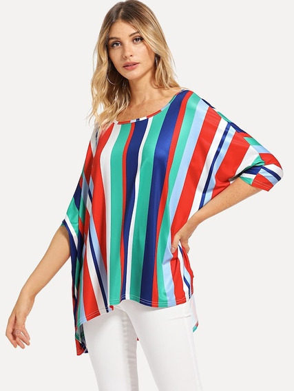 Blusa Multicolor, Tallas Extra 1xl, Tallas Grandes