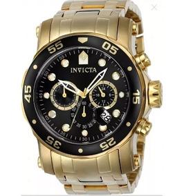 Relógio Masculino Invicta Pro Diver 0072 Original Ouro 18k